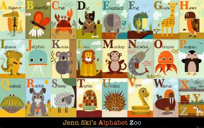 Alphabet Zoo-Jenn Ski-Art Print