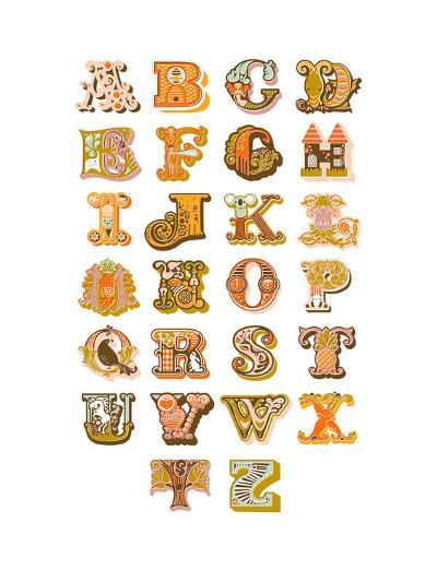 Alphabet-The Paper Nut-Art Print
