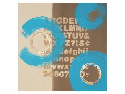 Alphabetical Blue Abstract-Irena Orlov-Art Print