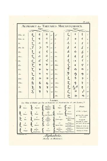Alphabets Tartares-Diderot-Art Print