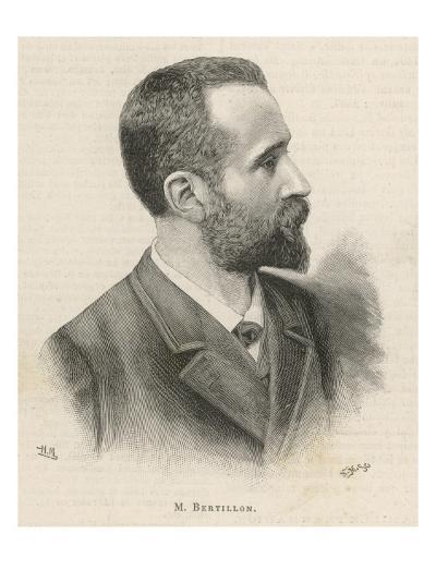 Alphonse Bertillon French Criminologist a Portrait--Giclee Print