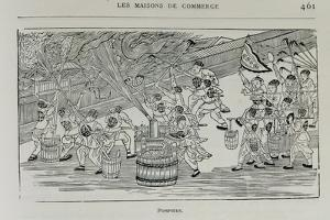 Firemen, Illustration from 'Grandeur and Supremacy of Peking' by Alphonse Hubrecht