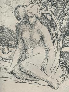'Death the Wooer', c1895, (1923) by Alphonse Legros