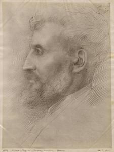 Edouard Lanteri, 1898 (Silverpoint on Cardboard) by Alphonse Legros