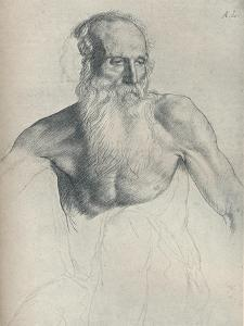 'Etude De Vieillard A Longue Barbe', c1895, (1923) by Alphonse Legros