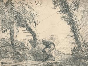 'Harvesters Surprised by the Storm', c1900, (1923) by Alphonse Legros