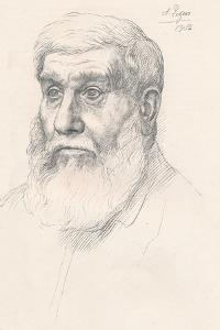 Head of a Peasant, 1902 by Alphonse Legros