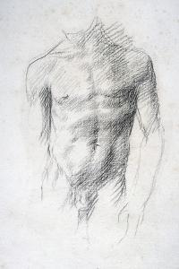 Male Nude by Alphonse Legros