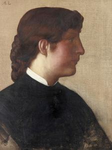 Portrait of a Lady, C.1879 by Alphonse Legros