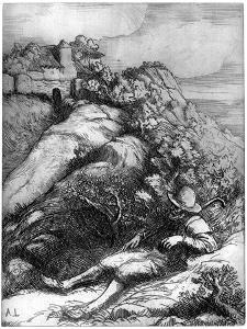 Shepherd Resting, C1860-1910 by Alphonse Legros