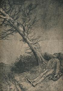 'The Dying Vagabond', 1875 by Alphonse Legros