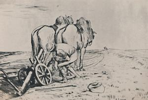 'The Plough', mid-late 19th century, (1946) by Alphonse Legros