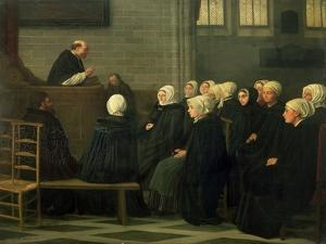 The Sermon, 1871 by Alphonse Legros