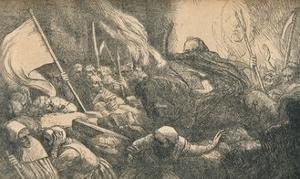 'The Triumph of Death, The Proclamation', c1885 by Alphonse Legros