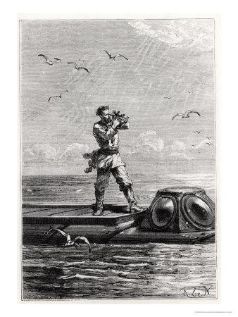 "Captain Nemo on Top of the Nautilus, from ""20,000 Leagues under the Sea"""