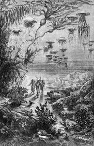 "Illustration from ""20,000 Leagues under the Sea"" by Alphonse Marie de Neuville"