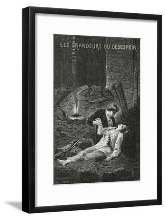Les Grandeurs Du Desespoir - Illustration from Les Misérables, 19th Century