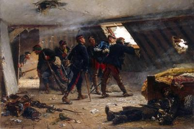 Scene from the Franco-Prussian War, 1875