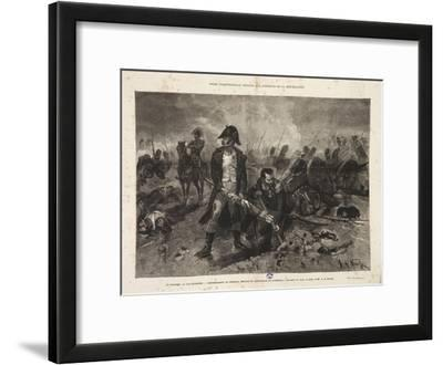The Burial of the Flag, Episode of the Battle of Waterloo, Engraved by Jules Claretie, 1879