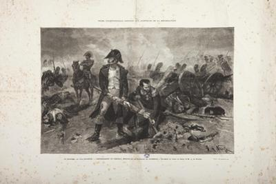 The Burial of the Flag, Episode of the Battle of Waterloo, Engraved by Jules Claretie