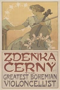 Zde?ka ?erný, the greatest Bohemian violoncellist, 1913 by Alphonse Marie Mucha