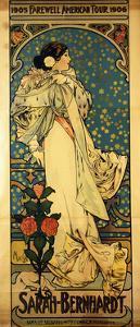 A Poster for Sarah Bernhardt's Farewell American Tour, 1905-1906, C.1905 by Alphonse Mucha