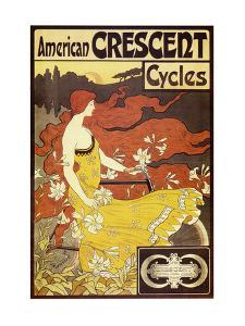 American Crescent Cycles by Alphonse Mucha