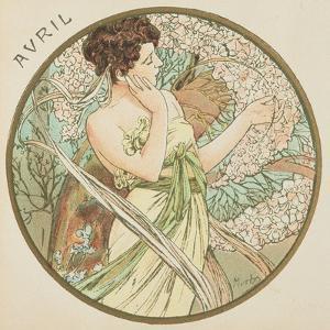 April, 1899 (Detail) by Alphonse Mucha