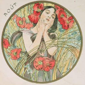 August, 1899 (Detail) by Alphonse Mucha