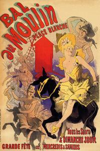 Ball at the Moulin Palace Blanche by Alphonse Mucha