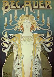 Becauer Lamps by Alphonse Mucha