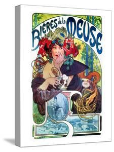 Beer Ad By Mucha, C1897 by Alphonse Mucha