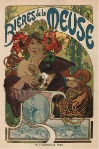 Beers of the Meuse by Alphonse Mucha