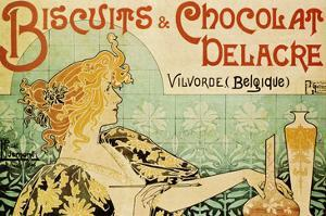 Biscuits and Chocolate Delcare by Alphonse Mucha