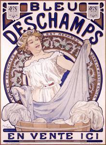 Bleu Deschampes by Alphonse Mucha