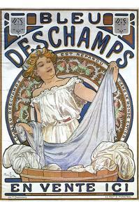 Bleu Dsechamps Sold Here by Alphonse Mucha