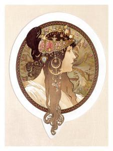Byzantine Brunette, 1897 by Alphonse Mucha