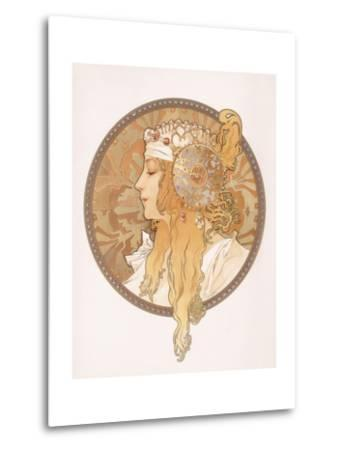 Byzantine Head of a Blond Maiden; Tete Byzantine D'Une Femme Blonde, C.1897 (Lithograph in Colours)