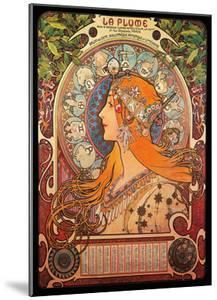 Calendar, Art Nouveau, La Belle Époque by Alphonse Mucha