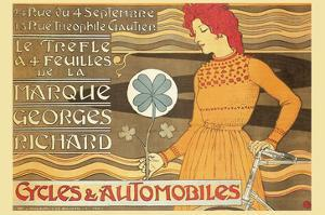 Cycles and Automobile by Marque George Richard by Alphonse Mucha