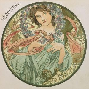 December, 1899 (Detail) by Alphonse Mucha