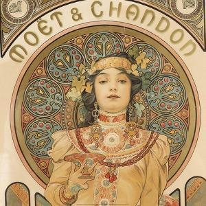 Detail from Moet & Chandon, 1897 by Alphonse Mucha