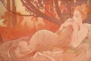 Dusk (Crepuscule), 1899 by Alphonse Mucha