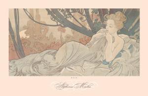 Dusk by Alphonse Mucha