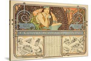 F. Guillot Pelletier Calendar, 1897 by Alphonse Mucha