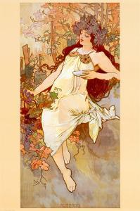 Fall by Alphonse Mucha
