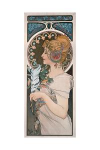 Feather, 1899 by Alphonse Mucha