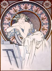 Femme aux Coquelicots by Alphonse Mucha