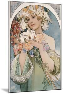 Flower, 1897 by Alphonse Mucha