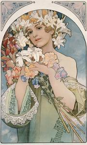 Flower, 1897 by Alphonse Mucha